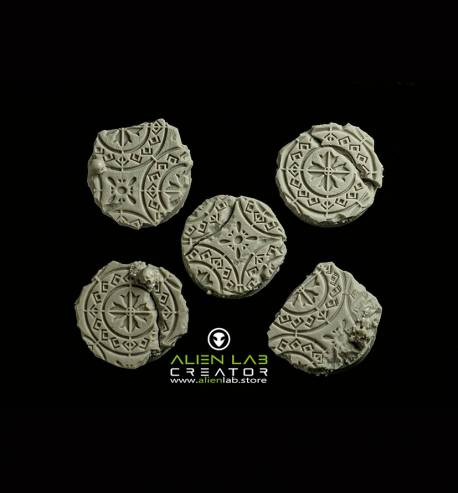ANCIENT RUINS ROUND BASES 25MM