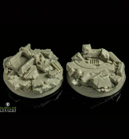 URBAN RUBBLE ROUND BASES 40MM