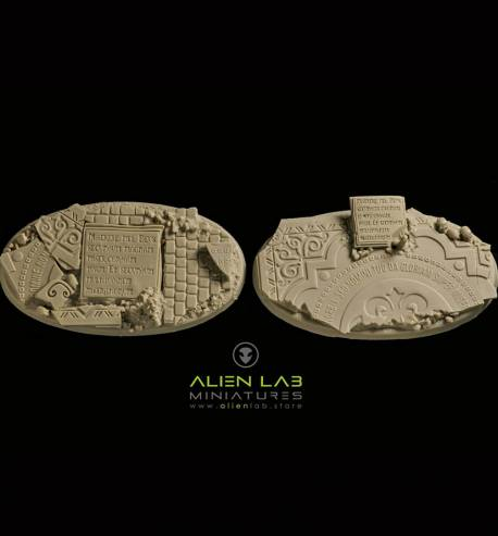 TEMPLE RUINS OVAL BASES 75MM