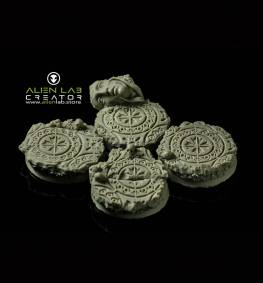 ANCIENT RUINS ROUND BASES 32MM