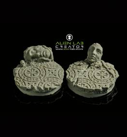 ANCIENT RUINS ROUND BASES 40MM